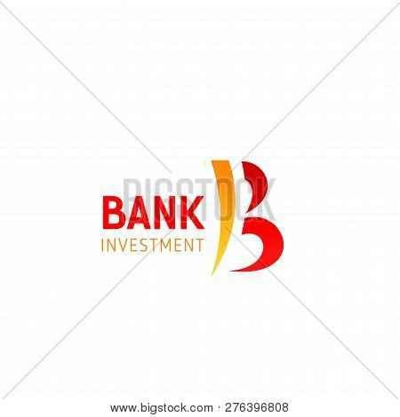 Bank Investment B Letter Icon For Banking And Financial Commerce Industry. Vector Letter B Symbol Fo