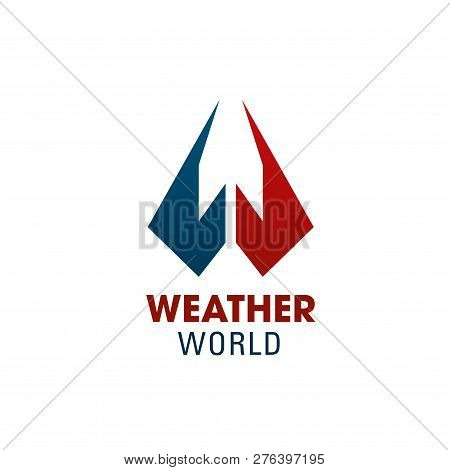 Weather World W Letter Icon For Weather Forecast Service Or Smartphone Application App Symbol. Vecto