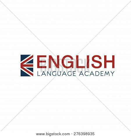 English Language Academy Vector Icon. English As A Second Language Concept. Fluent Speaking In Engli
