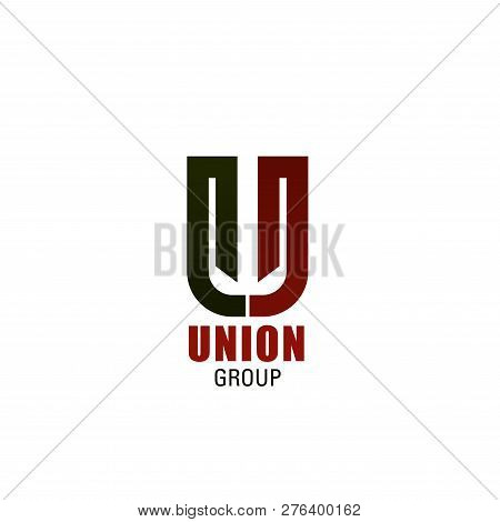 Union Group U Letter Icon For Marketing Or Market Research And Construction Technology Corporation.