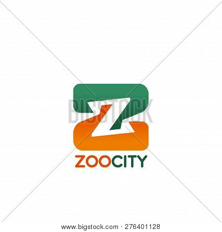 Zoo City Letter Z Icon For Public Animal Park Or Pet Store And Veterinary Clinic Design. Vector Isol
