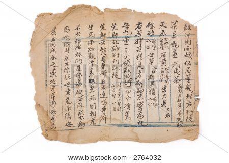 Antique Chinese Prescription
