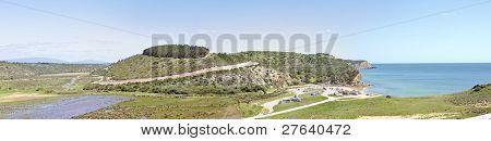 Panoramic view at Boca de Rio in Portugal