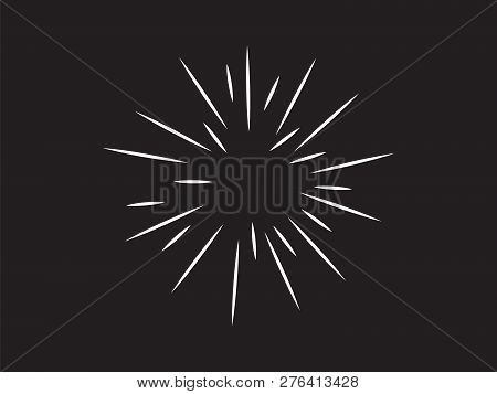 Fast Speed Warp Vector. Zoom Fade Converging Vector Background