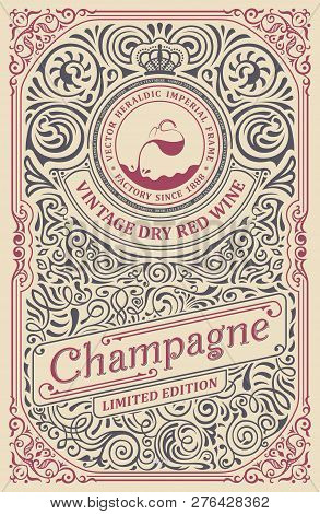 Vintage Label For Packing Or Book Cover Design