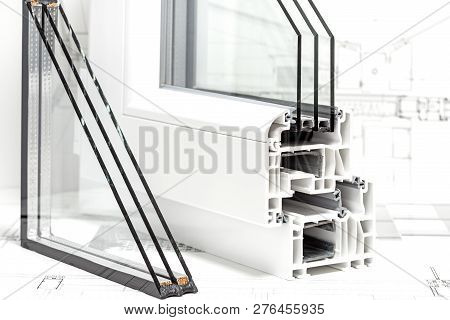 Pvc Windows Design Cross Section Triple Glazing