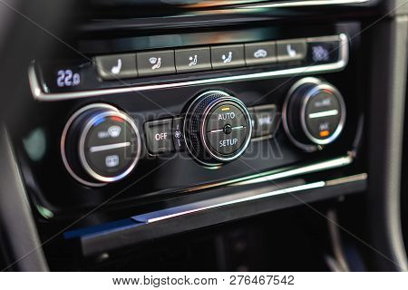 Vehicle Conditioner And Ventilation Control Unit Panel