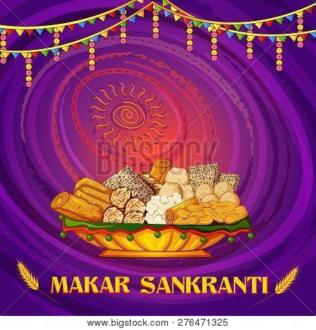Happy Makar Sankranti Religious Traditional Festival Of India Celebration Background
