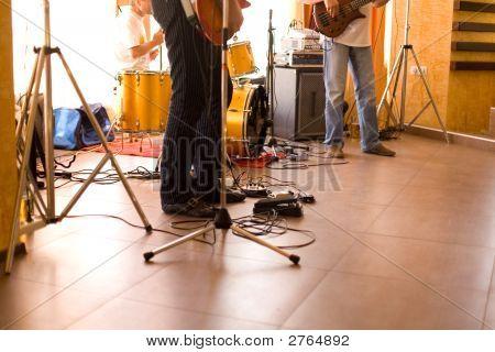 Zpěvák kapely zařízení