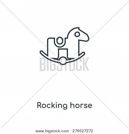 Rocking Horse Icon In Trendy Design Style. Rocking Horse Icon Isolated On White Background. Rocking
