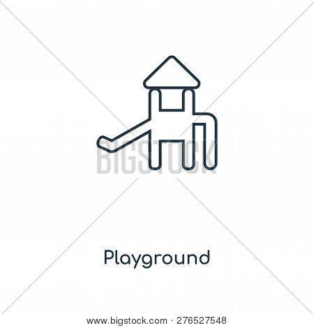 Playground Icon In Trendy Design Style. Playground Icon Isolated On White Background. Playground Vec