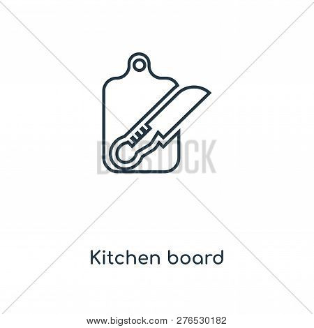 Kitchen Board Icon In Trendy Design Style. Kitchen Board Icon Isolated On White Background. Kitchen