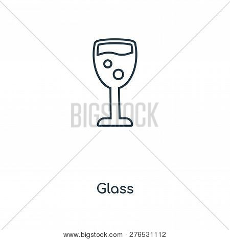 Glass Icon In Trendy Design Style. Glass Icon Isolated On White Background. Glass Vector Icon Simple