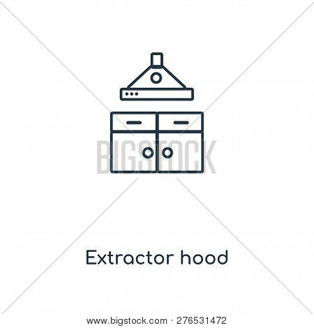 Extractor Hood Icon In Trendy Design Style. Extractor Hood Icon Isolated On White Background. Extrac