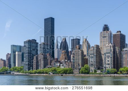 View Of Skyline Of Midtown Manhattan In New York City