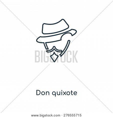 Don Quixote Icon In Trendy Design Style. Don Quixote Icon Isolated On White Background. Don Quixote