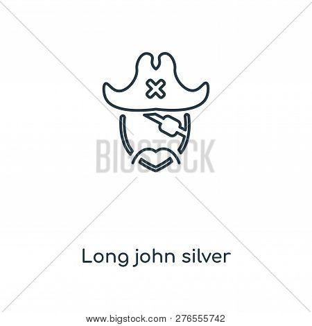 Long John Silver Icon In Trendy Design Style. Long John Silver Icon Isolated On White Background. Lo