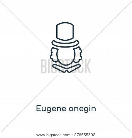 Eugene Onegin Icon In Trendy Design Style. Eugene Onegin Icon Isolated On White Background. Eugene O