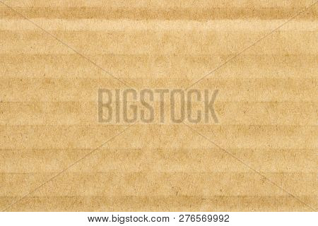 Brown Cover Cardboard Texture Background, Horizontal Stripes