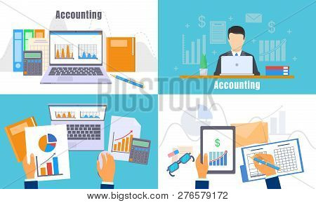 International Accounting Day Banner Set. Flat Illustration Of International Accounting Day Banner Se