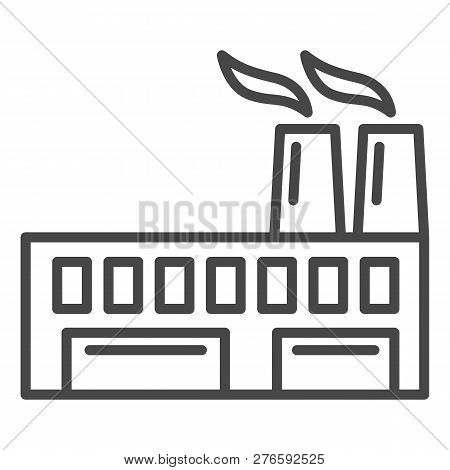 Eco Friendly Factory Icon. Outline Eco Friendly Factory Icon For Web Design Isolated On White Backgr