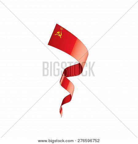 The Red Flag Of The Ussr. Vector Illustration On White Background