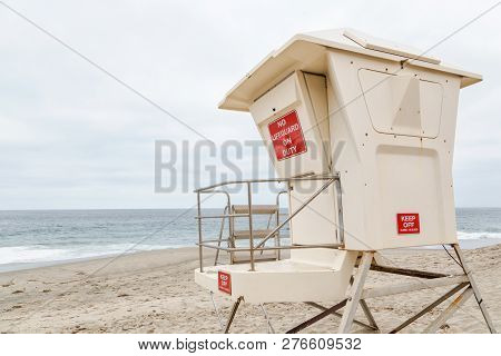 The Lifeguard Headquarter In Laguna Beach, California