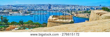 The View From Valletta Bastions, Malta