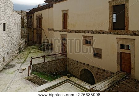 SUMELA MONASTERY, TRABZON, TURKEY - AUGUST 15, 2008: Inner court of Sumela monastery. Founded in 4 century, the monastery is one of the most important historic and touristic venues in Trabzon
