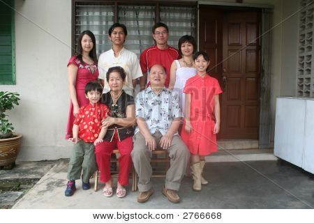Asian Chinese Family