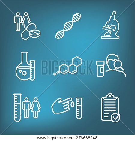 Medical Healthcare Icons - People Charting Disease Or Scientific Discovery New Employee Hiring Proce