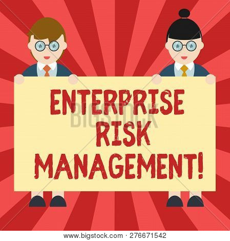 Conceptual Hand Writing Showing Enterprise Risk Management. Business Photo Showcasing Analysisage Ri
