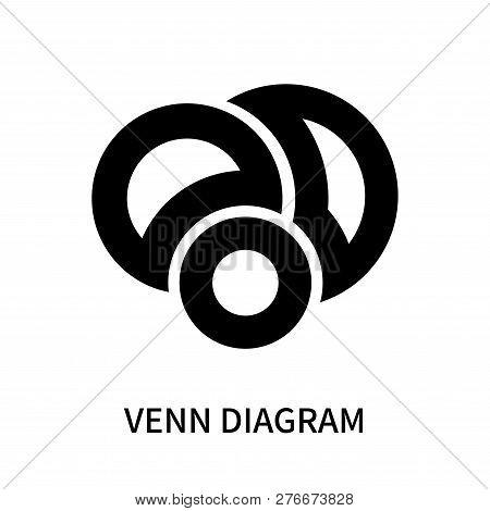 Venn Diagram Icon Isolated On White Background. Venn Diagram Icon Simple Sign. Venn Diagram Icon Tre