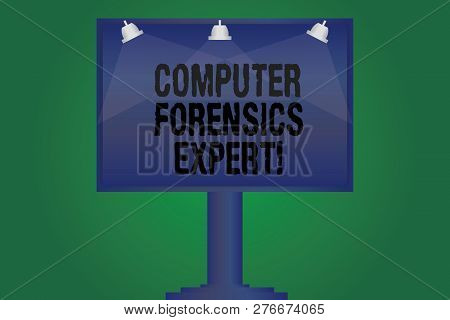 Handwriting Text Writing Computer Forensics Expert. Concept Meaning Harvesting And Analysing Evidenc