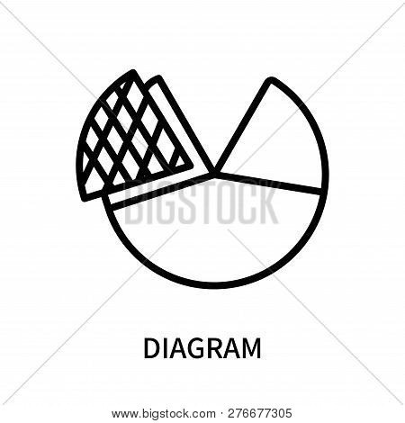Diagram Icon Isolated On White Background. Diagram Icon Simple Sign. Diagram Icon Trendy And Modern