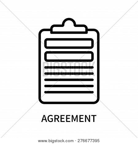 Agreement Icon Isolated On White Background. Agreement Icon Simple Sign. Agreement Icon Trendy And M