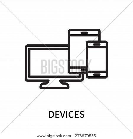 Devices Icon Isolated On White Background. Devices Icon Simple Sign. Devices Icon Trendy And Modern