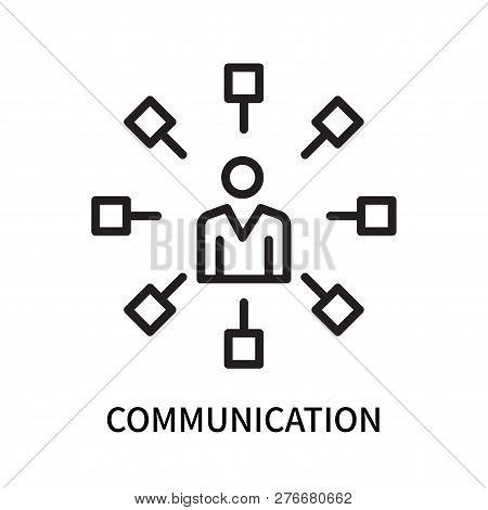 Communication Icon Isolated On White Background. Communication Icon Simple Sign. Communication Icon