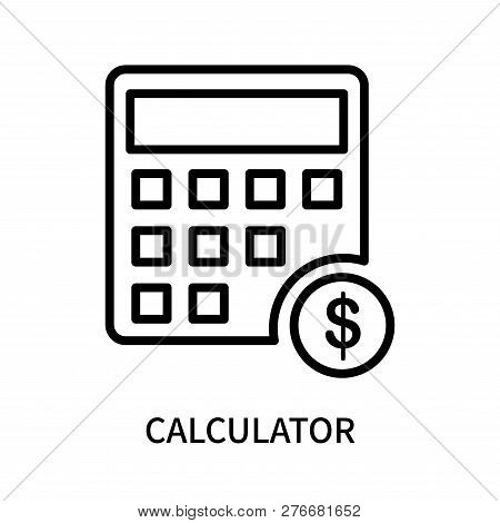 Calculator Icon Isolated On White Background. Calculator Icon Simple Sign. Calculator Icon Trendy An