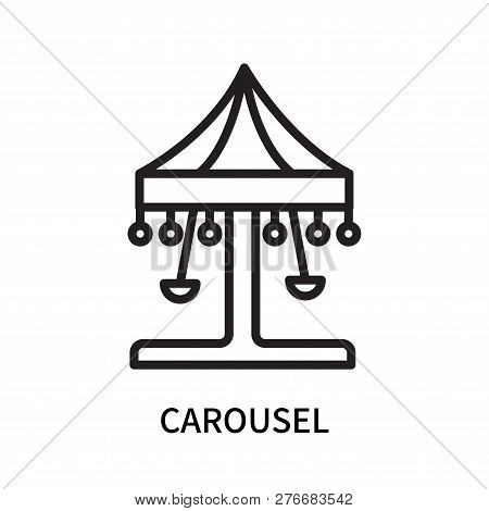 Carousel Icon Isolated On White Background. Carousel Icon Simple Sign. Carousel Icon Trendy And Mode