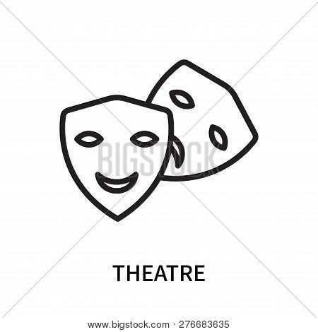 Theatre Icon Isolated On White Background. Theatre Icon Simple Sign. Theatre Icon Trendy And Modern