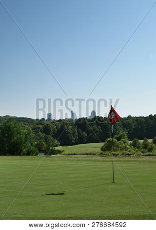 Raleigh,nc/usa - 8-24-2018: Lonnie Poole Golf Course On Centennial Campus Of Nc State University In