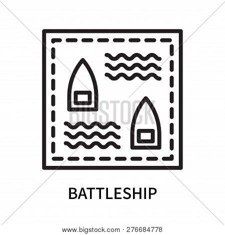 Battleship Icon Isolated On White Background. Battleship Icon Simple Sign. Battleship Icon Trendy An