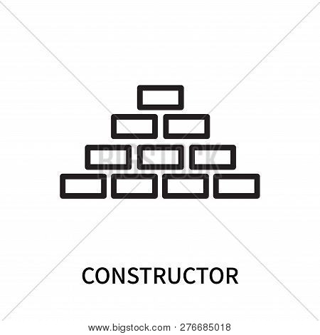 Constructor Icon Isolated On White Background. Constructor Icon Simple Sign. Constructor Icon Trendy