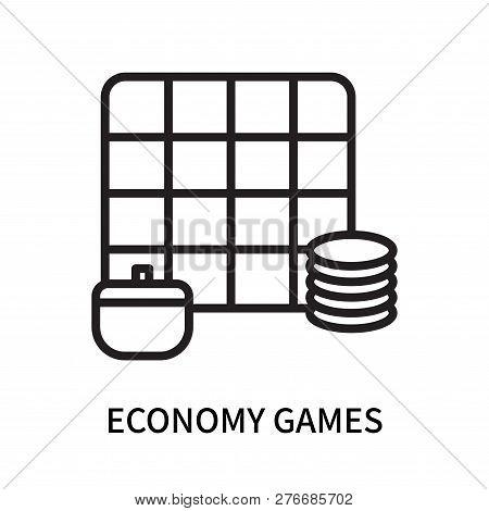 Economy Games Icon Isolated On White Background. Economy Games Icon Simple Sign. Economy Games Icon