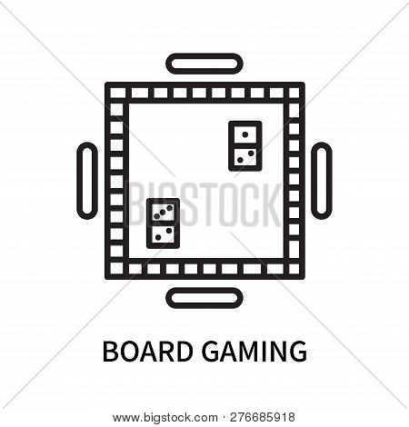 Board Gaming Icon Isolated On White Background. Board Gaming Icon Simple Sign. Board Gaming Icon Tre