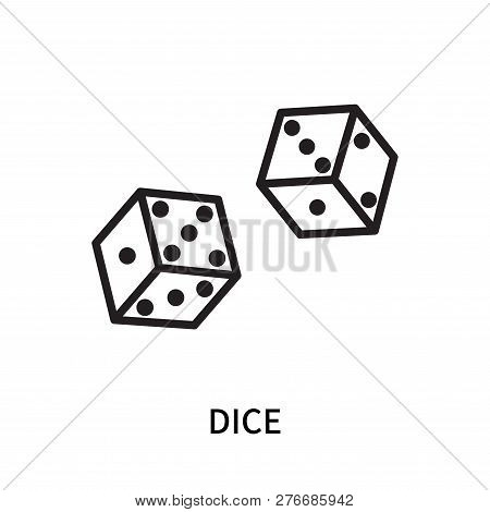 Dice Icon Isolated On White Background. Dice Icon Simple Sign. Dice Icon Trendy And Modern Symbol Fo