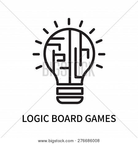 Logic Board Games Icon Isolated On White Background. Logic Board Games Icon Simple Sign. Logic Board