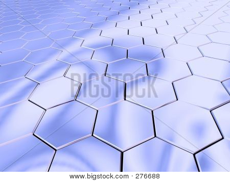 Chrome Hexagon Space