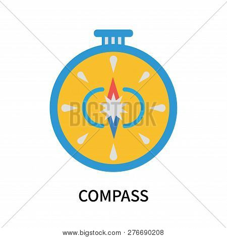 Compass Icon Isolated On White Background. Compass Icon Simple Sign. Compass Icon Trendy And Modern
